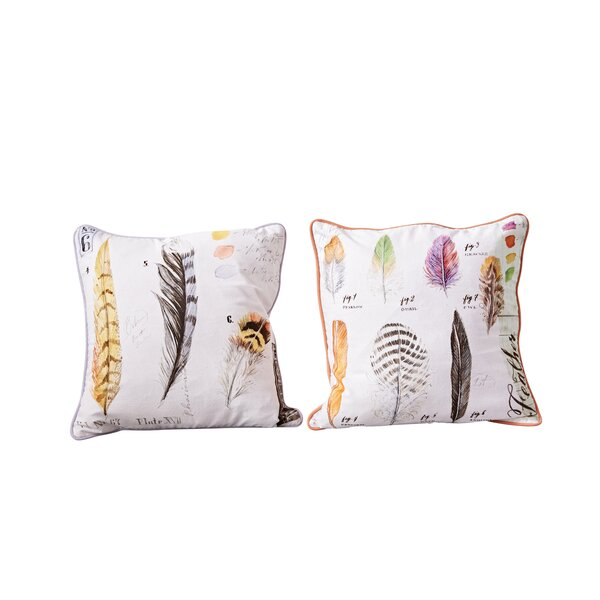 Rabin Square Printed 2 Piece 100% Cotton Throw Pillow Set by Gracie Oaks